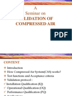 Validation of Compressed Air