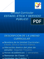 Presentación Estado, Ética y Servicio Público