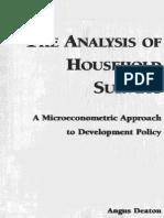 Deaton Analysis of Household Survey