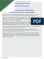 Formulario de Licencias ATP Para Los Usuarios Europeos