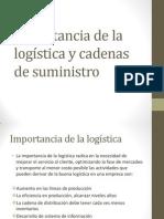 Importancia de la logística y cadenas de suministro