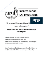 hhhs debate club flyer