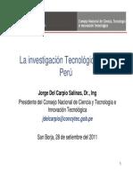 La Investigación Tecnológica en el Perú_CONCYTEC