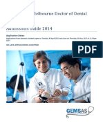 2014 Dentistry GEMSAS Admissions Guide