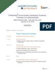 Agenda FINAL - SCLA TransitionToImplementation Jan2014