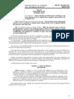 Rule 125 Procedure in d SC