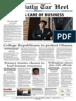 The Daily Tar Heel for January 15, 2014