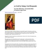 Job Sues God Greenstein Summary BAR 2012