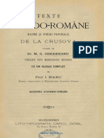 Texte macedo-române - basme şi poesii poporale de la Cruşova