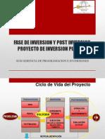 Fase de Inversion y Post Inversion Proyecto de Inversion Publica