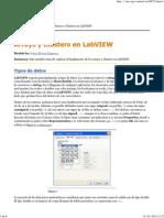Arrays y Clusters en LabVIEW