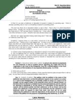 Rule 24 - Dpstns b4 Actns or Pnding Appl