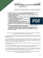 Rule 50 - Dismissal of Appeal