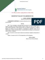 DECRETO Nº 73424, DE 07 DE JANEIRO DE 1974. Cancela Autorização para Funcionamento No Brasil da Assicurazioni Generali Di Trieste e Venezia.