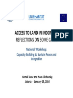 Access to Land in Indonesia. Reflections  on Some Cases