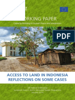 Access to Land in Indonesia Reflections on Some Cases
