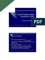 Social Responsibility Investment (SRI)