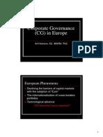 CG in Europe