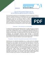 Decálogo de Propuestas Organizativas de los Centros Sanitarios ante la Gripe A 06 09 2009