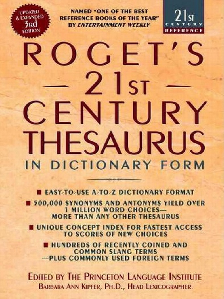 ea36f85bef Roget s 21st Century Thesaurus (3rd Edition)
