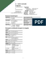Biochimie Clinica - Valori Normale