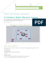 14 Fun & Festive Baby Shower Games