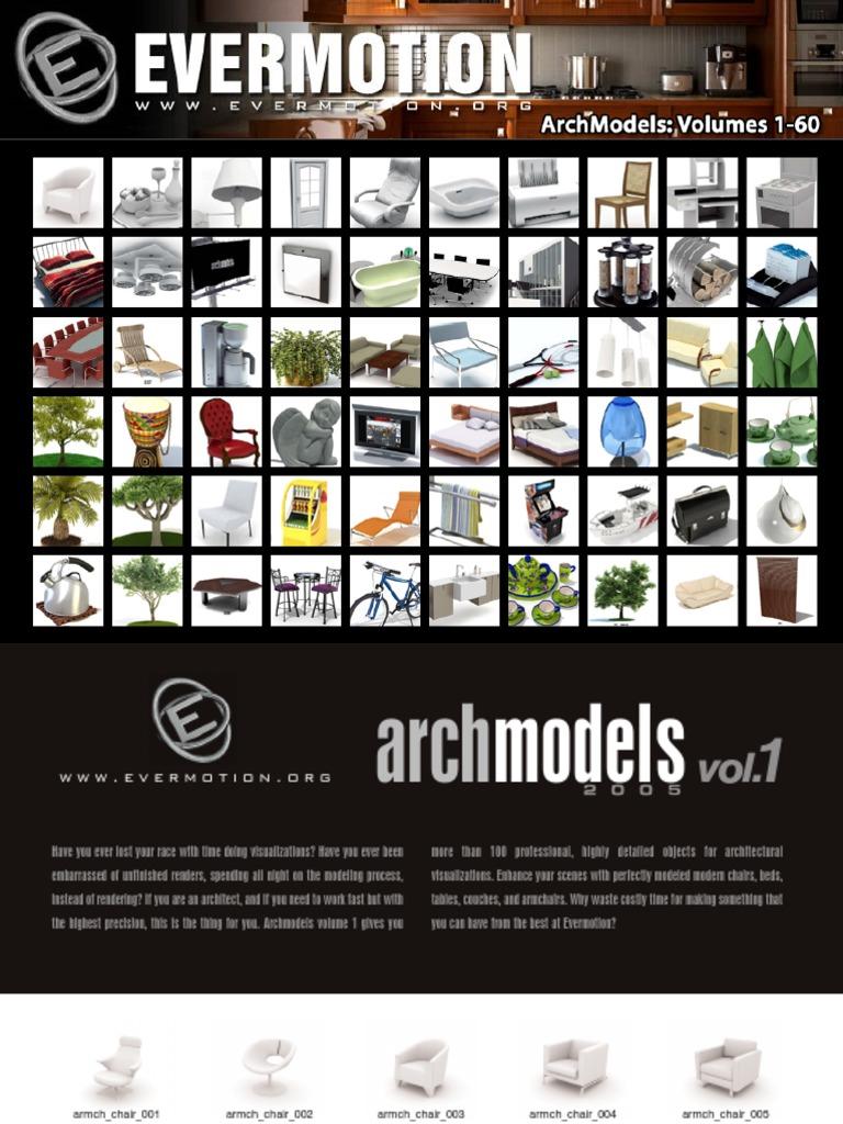 ArchModels Volumes 1-60 | Trademark | Rendering (Computer Graphics)