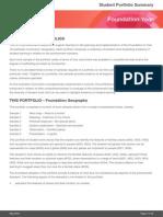 Foundation Year Geography Portfolio