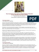 The 15 Prayers Jesus Gave to Saint Bridget of Sweden