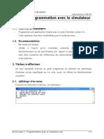 11 ACOO Labo 2 Programmation Avec Le Simulateur