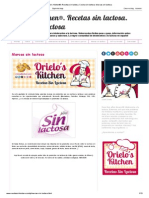 Orielo's Kitchen®. Recetas sin lactosa