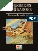 [D&D 1e BD&D ITA] AC7 - Schermo Delle Tabelle Di Gioco