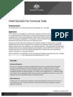 Small Business Fair Dismissal Code 2011