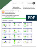 Explorencia Language Courses Calendar 2010