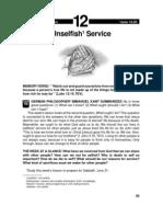 Unselfish Service 14-20 Jun 2003