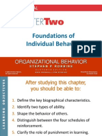 Chapter 2 Foundations of Individual Behavior (Revised)