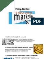 Ph Kotler 15 Lucruri Utile in MarketingPPT.