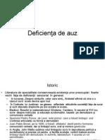 Deficienta de Auz (2)