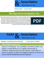 Marriage Based Immigration Visa