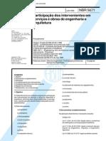 NBR 05671 - 1990 - Participação dos Intervenientes em Serviços e obras de Engenharia e Arquitetur