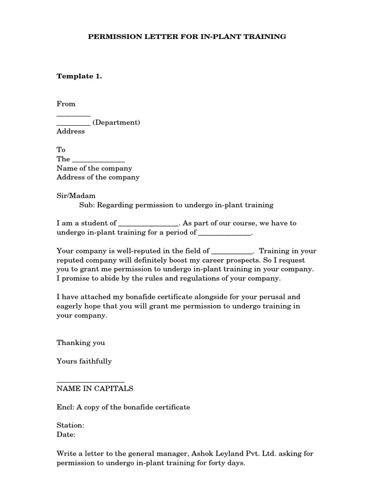 Request Letter Format Bonafide Certificate. Inplant training permission letter format lined paper template kids in  1betcityfo Image collections Bonafide Certificate Any Example Ideas