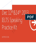 IELTS Speaking (Dec 21 2013)