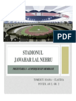 Jawaharlal Nehru Stadium - prezentare acoperis cu membrane
