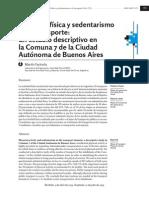 Actividad física y sedentarismo en el transporte, RTT 2013