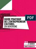 Guide Entrepreneur Culturel 2013 Le Transfo