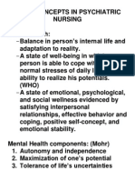 1. Basic Concepts in Psychiatric Nursing