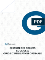 Gestion Des Polices Sous MacOSX