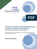 Catatan Kuliah Finite Element Methode