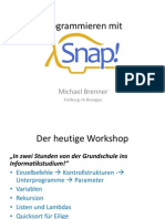 Snap Workshop Brenner