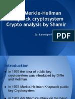 Seminar Merkhle - Hellmann cryptosystem